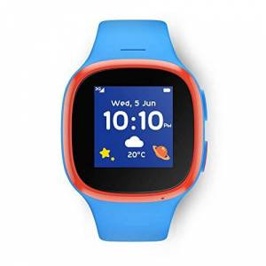 Vodafone V-Kids Watch with TCLMOVE, a GPS Kids Smart Watch with GPS Tracker, SOS Alert Button and Voice Messaging Function V-Sim by Vodafone Included - Blue