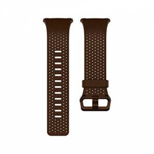 Fitbit Unisex Adult Ionic Leather Band, Cognac, Small