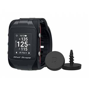 Shot Scope V2 GPS Watch - F/M/B + Hazard Distances - Automatic Shot Tracking - iOS and Android Apps - 36,000+ Courses To Download - No Subscriptions