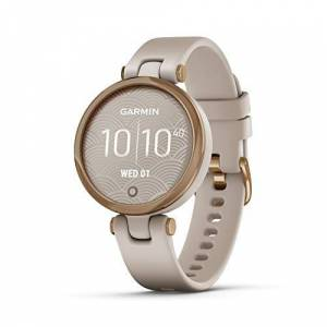 Garmin Lily Smartwatch Sport Edition - Rose Gold Bezel with Light Sand Case and Silicone Band