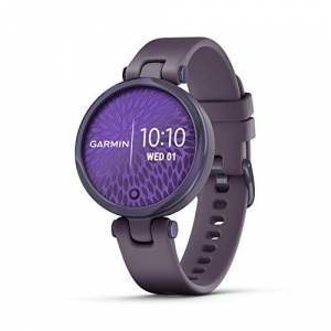 Garmin Lily Smartwatch Sport Edition - Midnight Orchid Bezel with Deep Orchid Case and Silicone Band