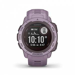 Garmin Instinct Solar, Solar-powered Rugged Outdoor Smartwatch, Built-in Sports Apps and Health Monitoring, Orchid