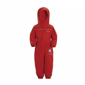 Regatta Unisex Kids Puddle IV All-in-One Suit, Red (Pepper), 6-12 months