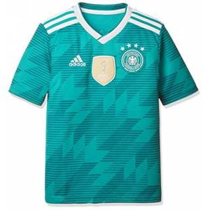 adidas Unisex Children's Jersey DFB Away Jersey 2018, Unisex_Child, Shirt, BR3146, Green (EQT Green S16/White/Real Teal S10), 176 (EU)