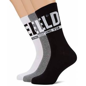 Diesel Men's SKM-RAY-THREEPACK Calf Socks, Black (Black/Black/Black E3843-0Qatv), 3/5 (Manufacturer size: Small), Pack of 3