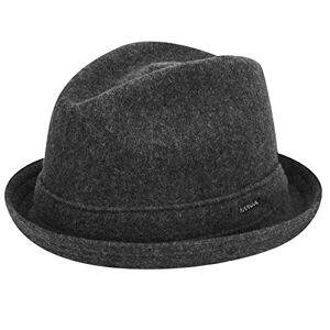 Kangol Wool Player Trilby Hat, Grey (Dark Flannel), Large
