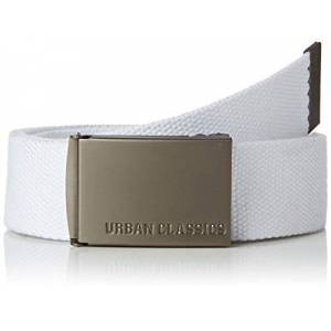 Urban Classics Grtel Canvas Belt, White, One size