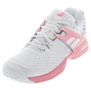 Babolat Unisex Adults' Propulse AC Junior Tennis Shoes, White/Geranium Pink, 5 UK
