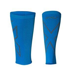 2XU Unisex Compression Calf Sleeves UA5458b, Vibrant Blue/Grey