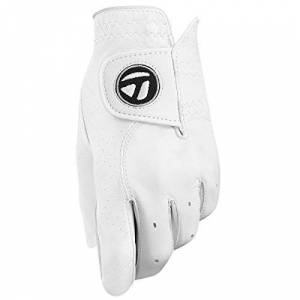 TaylorMade Men's Tour Preferred Golf Glove, White, Large