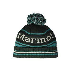 Marmot Unisex Retro pom hat, Unisex_Adult, Hat, 17410-4982-ONE, Rosin Green/Deep Jungle, Standard Size