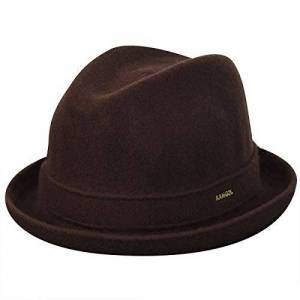 Kangol Wool Player Trilby Hat, Brown (Tobacco), Medium