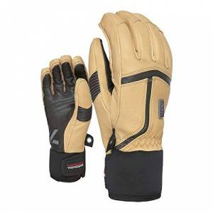 Level Men's Off Piste Leather Gloves, beige, 7.5