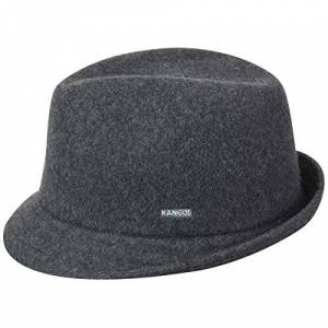 Kangol Wool Arnold Trilby Hat, Grey (Dark Flannel), X-Large