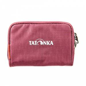 Tatk5|#tatonka Tatonka Plain Wallet - Small Wallet with Zip in Credit Card Format - 11 x 7 x 2 cm - Men and Women - Bordeaux Red