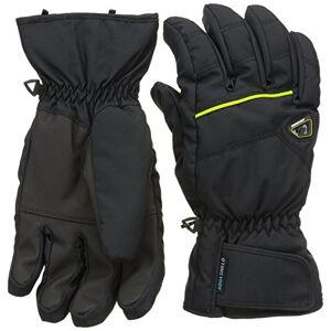 Ziener Gilligan As Men's Ski Gloves black Black/sunny Green Size:FR : XL (Taille Fabricant : 10,5)
