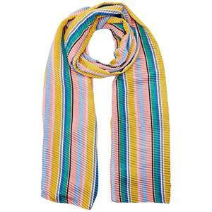 Dorothy Perkins Women's Silky Plisse Stripe Scarf, Multicolour (Multicolour 1032), One (Size:One Size)