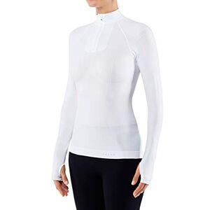 Falke Ess FALKE Women's Warm Tight Fit Zip W L/S SH Base Layer Top, White (White 2860), M-Medium