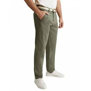 ESPRIT Men's 030EE2B303 Trouser, 335/Dusty Green, 38 W/34 L