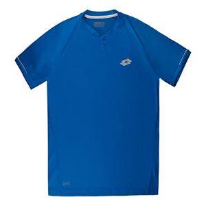 Lotto Men's Space II Polo Short Sleeve, Blue Over, Medium