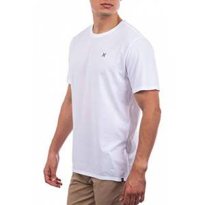 Hurley Men's M Dri-Fit Staple Icon Reflective S/S Tee, White, M