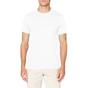 Hackett Men's Linen Blend Tee T-Shirt, White (800WHITE 800), Medium