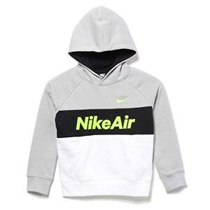Nike Kid's Nsw Air Po Sweatshirt, Lt Smoke Grey/White/Black/Volt, X-Large