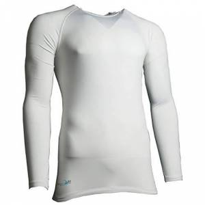 Precision Unisex's Essential Base Layer Long Sleeve Shirt, White, X-Small