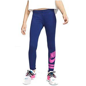 Nike Girls' G NSW LGGNG FAVORITE GX3 Sport Trousers, Blue Void/(fire Pink), XS
