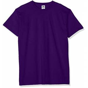 Fruit of the Loom Men's Valueweight 5 Pack T-Shirt, Purple (Purple Pe), Large (Manufacturer Size:L)