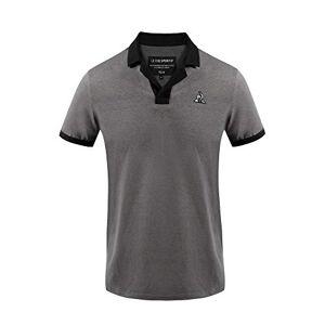 Le Coq Sportif Tech Polo Ss N°1 M Polo Shirt for Men, Mens, Polo, 2020535_M, Black Nomad/Black, M