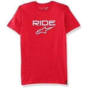 Alpinestars Men's RIDE 2.0 TEE T-Shirt, Red/White, Medium