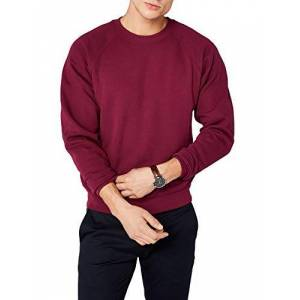 Fruit of the Loom Men's Raglan Classic Sweater, Burgundy, X-Large