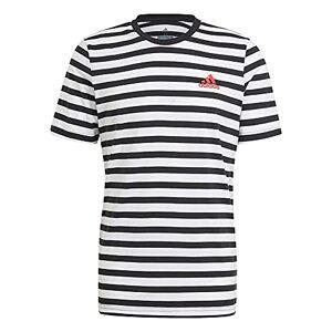 adidas M Stripy Sj T Men's T-Shirt Black White