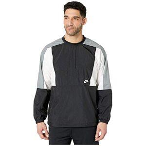 Nike Men's M Nsw Jkt Wvn Crew Cb Sweatshirt Long Sleeve, Midnight Navy/Pacific Blue/Light Bone/(White), L