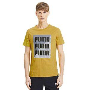 Puma Summer Print Graphic Tee Men's Golden Rod, XL