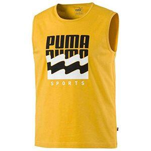 Puma Summer Graphic Sleeveless tee T-shirt, Men, Golden Rod, XL