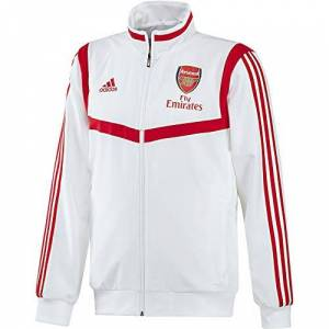 adidas Men's Arsenal FC Presentation Jacket, white/Scarlet, M