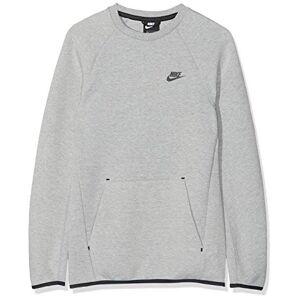 Nike Sportswear Tech Fleece Sweatshirt, Men's, mens, Sweatshirt, 928471, Dark Grey Heather / Black, XL