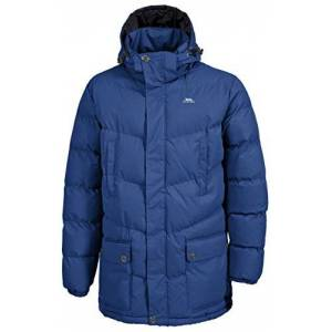 Trespass Cumulus, Navy Tone, XS, Warm Padded Waterproof Winter Jacket with Removable Hood for Men, X-Small, Blue