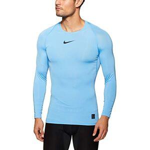 Nike Men's Pro Long Sleeve Top, University Blue/Black, Small