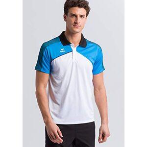 Erima Men's Premium One 2.0 Polo-shirt, White/Curacao/Black, Medium