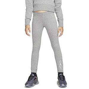 Nike Girls' NSW Favorites Shine Leggings, Carbon Heather, Large