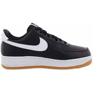 Nike Men's Air Force 1 Basketball Shoes, Black (Black/White/Wolf Grey/Gum Med Brown 2), 15 UK