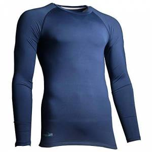 Precision Unisex's Essential Base Layer Long Sleeve Shirt, Navy, X-Small