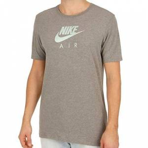 Nike Men's M NSW TEE AIR HRTGE VIRUS INK Short Sleeve T-Shirt, Carbon Heather, Medium