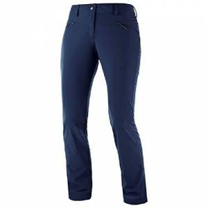 Salomon Women's Outdoor Trousers, Wayfarer Straight Lt Pant, Polyamide/Elastane, Blue (Night Sky), Size 6, LC1069100