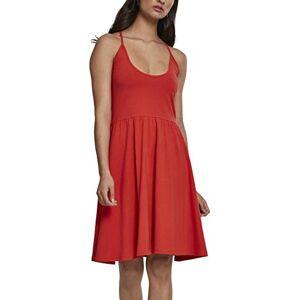 Urban Classics Women's Ladies Spaghetti Dress, Orange (Bloodorange 01685), 12 (Size: Medium)
