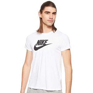 Nike Women's Tee Essential Icon Futur T-Shirt, White (White/Black), XL