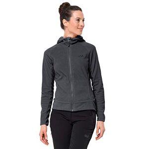 Jack Wolfskin Women's Arco Fleece Jacket, Ebony Stripes, 2X-Large